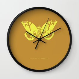 We Must Learn to Help Each Other -Mothra vs. Godzilla Wall Clock