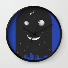 Friends From The Black of The Night Wall Clock