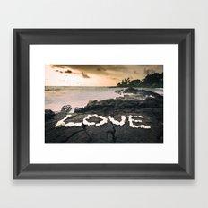 Love on the Rocks Framed Art Print