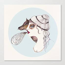 Cassandra two: sly. Canvas Print