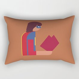 Ms Lady Reads Rectangular Pillow