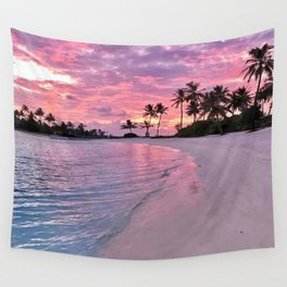 SUNSET AND PALM TREES Wall Tapestry