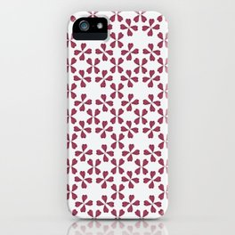 Feather Fan pattern -bordeux iPhone Case