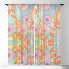 Lush Garden  #society6 #buyart #decor Sheer Curtain