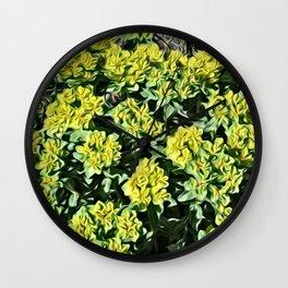 JC FloralArt 07 Wall Clock