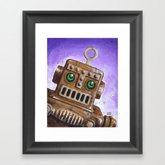 i.Friend: Steam Punk Robot Framed Art Print