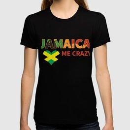 Jamaican Me Crazy Jamaica Quote Graphic T-shirt