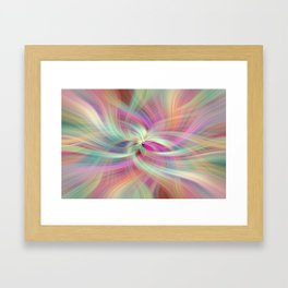 Rainbow Colored Abstract. Concept Divine Virtues Framed Art Print