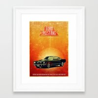 mustang Framed Art Prints featuring Mustang by The83juice