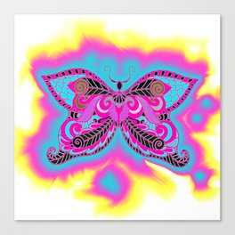 Multicoloured Butterfly Canvas Print