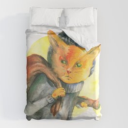 Cat Burglar Duvet Cover