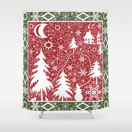 Winter. Christmas. Shower Curtain