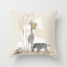 Zoo : Tigre, Zèbre, Girafe Throw Pillow