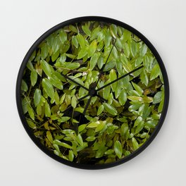 Floating leaves II Wall Clock