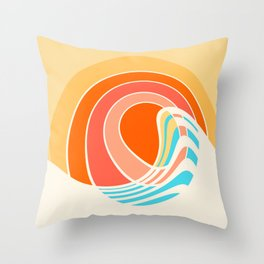 Sun Surf Throw Pillow