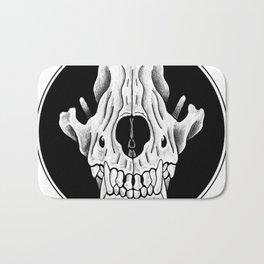 Amos Fortune Circle Skull Logo Bath Mat