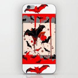 FREAKING HALLOWEEN BLOODY BAT PARTY iPhone Skin