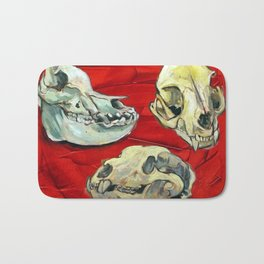Animal Skull Study Bath Mat