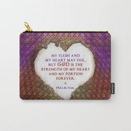 The Strength of My Heart Carry-All Pouch