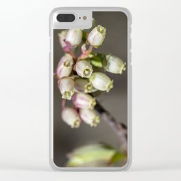 Wild blueberry bells. Clear iPhone Case