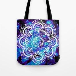 Mandala : Bright Violet & Teal Galaxy Tote Bag