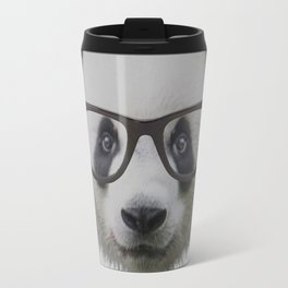 Panda with Nerd Glasses Travel Mug