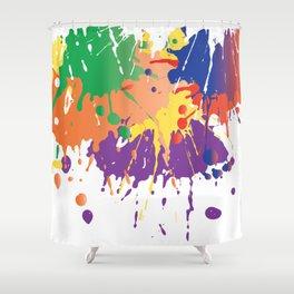 Colourful Paint splash Shower Curtain