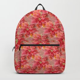 Watercolor Red Poinsettia Backpack