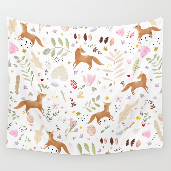 little foxes Wall Tapestry