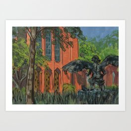 Oscar's Campus 2 Art Print