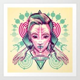 Alien Abduction - Anaglyph Art Print