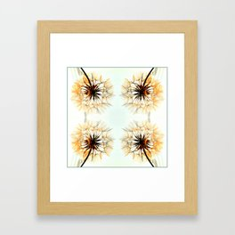 dandelions mosaic Framed Art Print