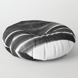 black and white shapes Floor Pillow