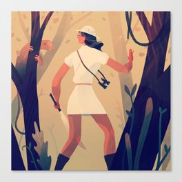 Explorer Girl Canvas Print
