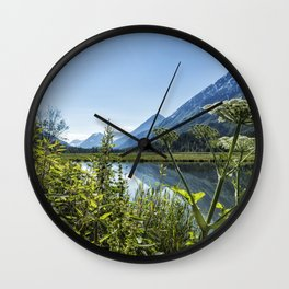 Wildflowers by the Side of Tern Lake Wall Clock