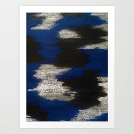 Blue blend Art Print