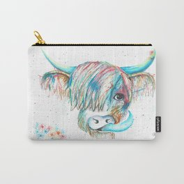 Highland Cattle full of colour Carry-All Pouch