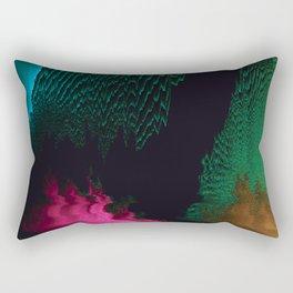 Dreamscape - Glitch Art Rectangular Pillow