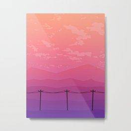 Follow the Telephone Poles Metal Print