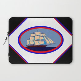 A Nautical Oval Ship Laptop Sleeve