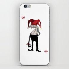 Red Joker iPhone & iPod Skin