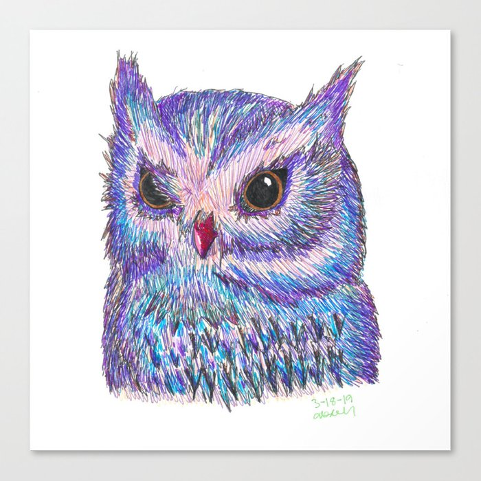 Tropical Owl Canvas Print