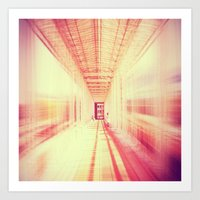 blur Art Prints featuring blur  by so_may