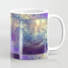 Abstract Silver Stiched canvas Coffee Mug