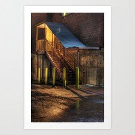 Warehouse Stairs Art Print