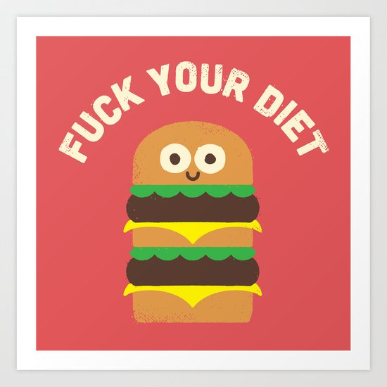 Discounting Calories Art Print