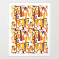 friday Art Prints featuring Friday by The Patternbase