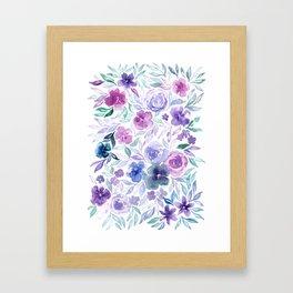 Watercolor Wildflower Meadow Floral Print Framed Art Print
