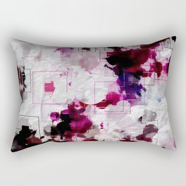 Modern Contempary Dark Color Abstract Rectangular Pillow