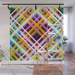 Colorful Abstract Symmetric Grit Art - Ratatoskr Wall Mural